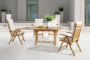 Sitzgruppe Monterrey Hochlehner Sessel | Tisch Four Seasons Oval