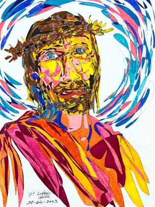 Álvaro Suárez Vértiz, pintura contemporánea, Perú, pintores peruanos, arte, dibujo, Cristo