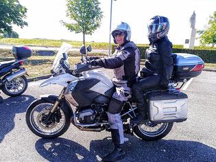 Ma Douce sur la moto de Jacques