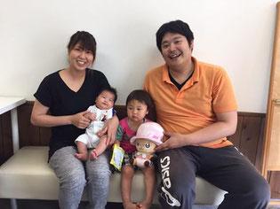 松山市産後の骨盤矯正をした、お母さんの写真