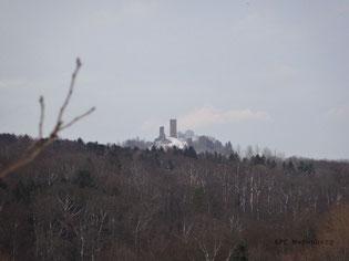Eine tolle Aussicht auf die Burg Merenberg