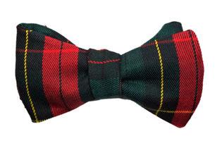 Herren Anzug Fliege zum selbstbinden in grün rot kariert- weihnachsfliege - fliege für weihnachten - winterfliege - Schleife