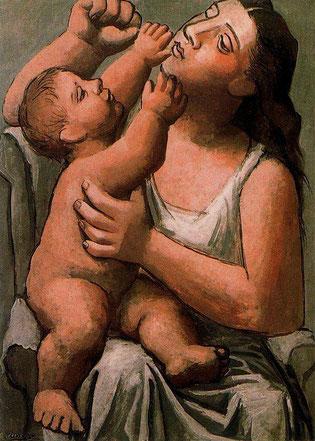 """Pablo Picasso, """"Madre con bambino"""""""
