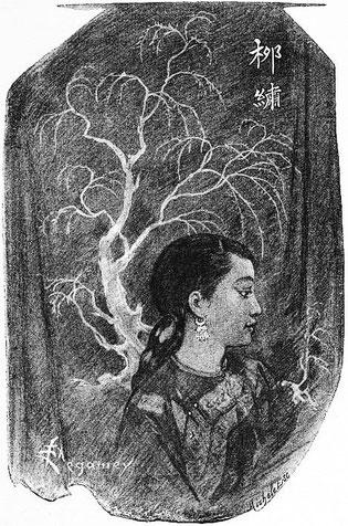Saule-Brodé. René de Pont-Jest : Le Fleuve des Perles (L'Araignée-Rouge). Émile Dentu, Paris, 1889, 420 pages, 197 dessins par Félix Régamey.