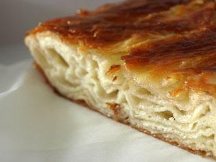 un délice de bretagne, le kouign amann fait se sucre et de beurre