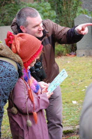 Auch die jüngsten Vogelfreunde bekamen von den NABU-Experten spannende Beobachtungstipps. Foto: Daniela Dunger