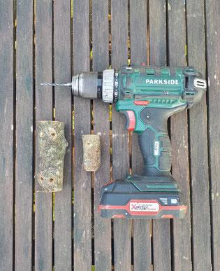 4-Percer les rondins de bois