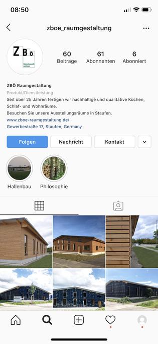 ZBÖ Raumgestaltung Instagram