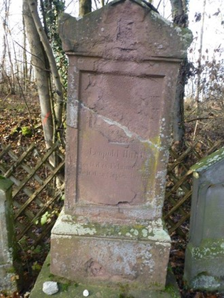 Grabstätte von Leopold Hirsch, Bild: Harald Schwaderer, Verein für jüdische Kultur in Tübingen.