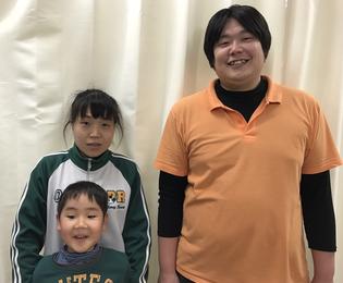 松山市産後の骨盤矯正をした、お母さんと小学低学年の子供