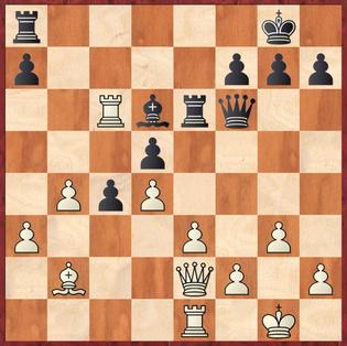Wagner - Schwier: Zum Glück für Wiehl blieb der weiße Zug 21.Dh5? folgenlos, da Schwarz den Abzug Lxg3! übersah, der eine Qualität gewonnen hätte