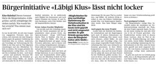 Diesen Sommer feiert die Bürgerinitiative «Läbigi Klus» den zehnten Geburtstag. Mit dem neuen Projekt der Entlastung Klus wird die Arbeit nicht abnehmen.