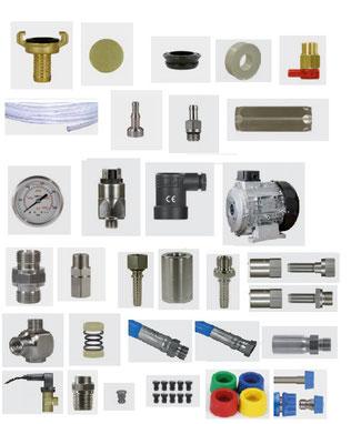 Autres pièces détachées pour équipements moyenne pression et haute-pression.