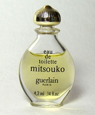 "MITSOUKO - MINIATURE ""GOUTTE"",  EAU DE TOILETTE 4,2 ML - IDENTIQUE A LA PHOTO PRECEDENTE"