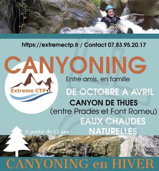 Canyoning Pyrénées orientales de octobre à avril