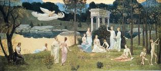 ムーサ九姉妹と古き三柱のムーサたち (ピエール・ピュヴィス・ド・シャヴァンヌ、1884~1889)