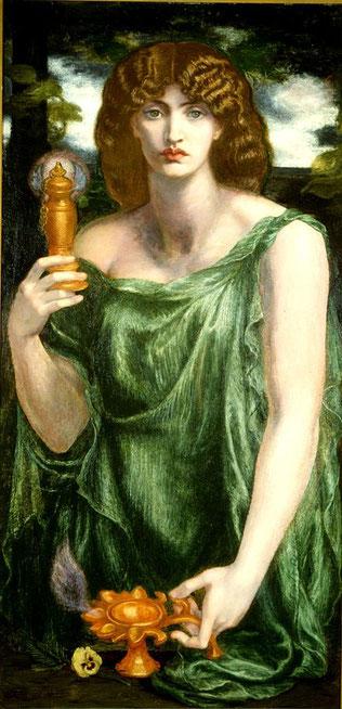 ロセッティによるムネモシュネ (ダンテ・ゲイブリエル・ロセッティ、1876年~1881年ごろの作品)