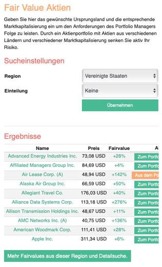 Fair Value Aktien
