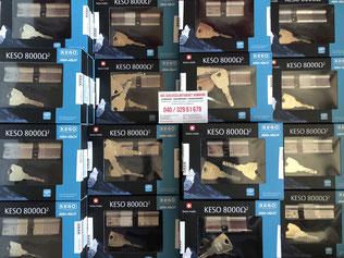 Schlüsseldienst Hamburg / Schlüsselnotdienst Altona - KESO Schliesszylinder in verschiedenen Längen. Wir werden von KESO direkt beliefert