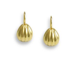 goldene Melonen Tropfen Ohrhänger Tropfenohrhänger