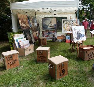 Kunst im Park - Juli 2015 - Burggarten Londorf