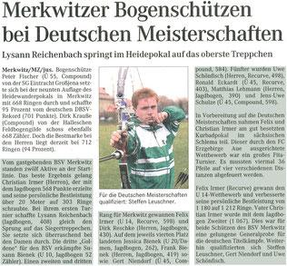 Artikel - 9.Heidewanderpokal in Merkwitz 2008