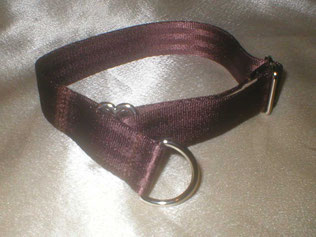 Zugstopp, Halsband, 2,5cm, Gurtband schokobraun