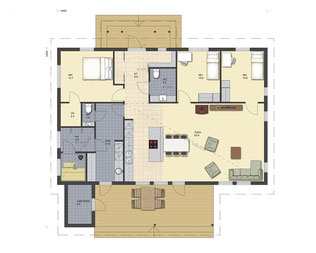 Holzhaus - Blockhaus Villa - Einfamilienhaus - Bauen - Massivholzhaus - Grundrissplanung - Planung - Hausbau - Holzbau - Blockhäuser bauen - Massivholzhäuser - Entwurfsplanung