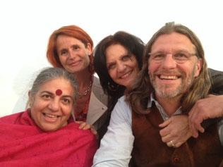 Vandana Shiva, Carmen Rodhain - de Wasseige, Michèle Couty, Fabien Rodhain