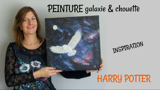 tuto peinture acrylique facile chouette edwige harry potter diy