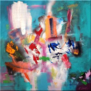 Burk Art Gemälde, 90 x 90 cm