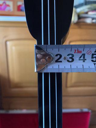 知念大工は横幅2.2cm