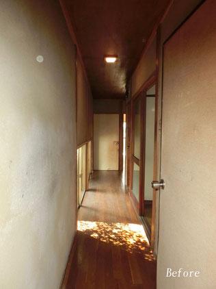廊下改修工事前