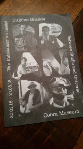 Foto-compilatie van Eugène Brands voor folder van het Cobra museum in Amstelveen