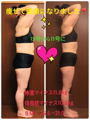 50代女性DNAパーソナル痩身 3ヶ月コース 結果