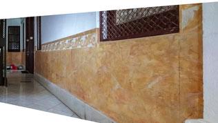 Pintors Barcelona. Recuperar estuco antiguo en escalera Eixample