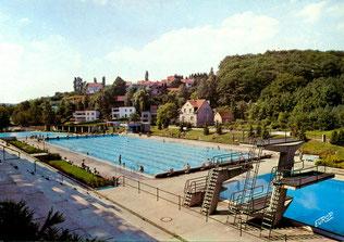 dudweiler, freibad, schwimmbad, sprungbecken, 1969