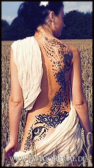 Tattoo Cover UP Tribal Arschgeweih Steiß