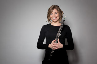 Bild: Flavia Käfer mit Oboe