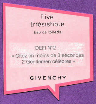 GIVENCHY - PRÊTE A RELEVER LE DEFI N° 2 : VERSO