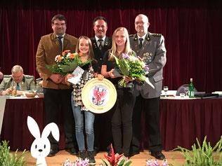 Gaujugendkönigin 2017 - Antonia Schreml mit Vizekönigin Elena Hemm