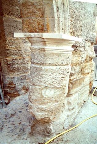chapiteau-colonne-pierre-avant-restauration-monument-historique