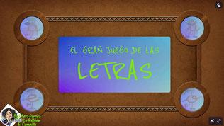 EL GRAN JUEGO DE LAS LETRAS (Inf. 4 años)