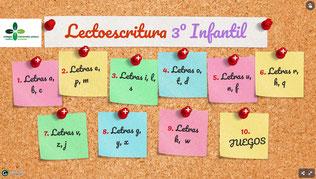 LECTO-ESCRITURA 3º INFANTIL