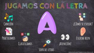 """JUGAMOS CON LA LETRA  """"A"""""""