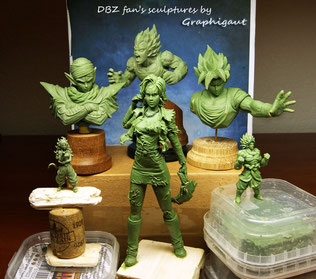 DBZ, dragon ball, Son Goku, Goku, buste, sculpture, handmade, fan bust, Vegeta, Bejita, Piccolo, Namek, Sayan, Z warriors