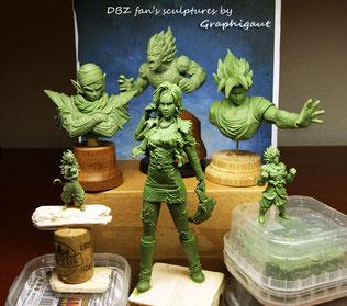 DBZ, dragon ball, Son Goku, Goku, buste, sculpture, handmade, fan bust, Vegeta, Bejita, Piccolo, Namek, Sayan, Z warriors