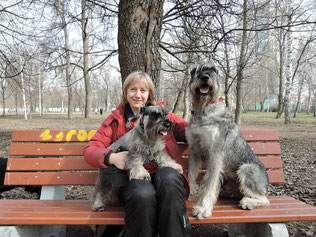Me and my dogs, Harley and Alf,  26.04.2015, Moscow, Russia
