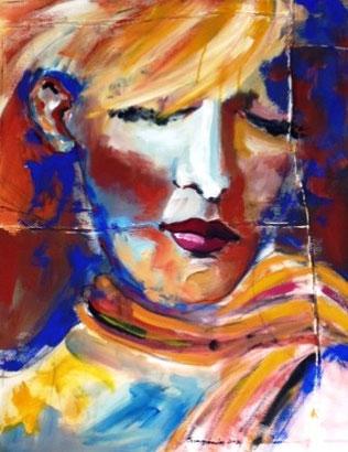 Dieses Frauenporträt war schon in vielen Ausstellungen zu sehen.