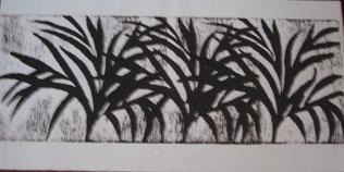 Gravure sur bois - Savane;